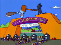 Щекотка и Царапка лэнд :: Itchy & Scratchy Land